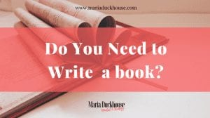 Do you need to a book?